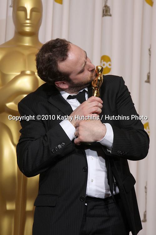 Nicolas Schmerkin, Best Animated Short Winner, Logorama.in the Press Room of the 82nd Academy Awards.Kodak Theater.Los Angeles, CA.March 7, 2010.©2010 Kathy Hutchins / Hutchins Photo....