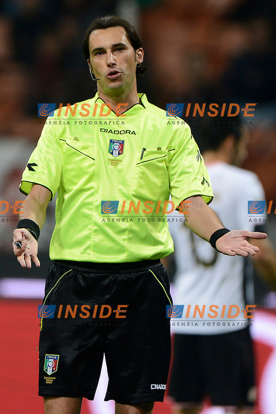 Andrea Gervasoni arbitro. Referee<br /> Milano 02-11-2014 Stadio Giuseppe Meazza - Football Calcio Serie A Milan - Palermo. Foto Giuseppe Celeste / Insidefoto