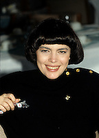 Montreal (Qc) CANADA -Feb 22, 1990 File Photo -<br /> <br /> Mireille Mathieu.<br /> <br /> Mireille Mathieu.is a French singer. She has achieved great success in France, as well as becoming an international superstar (she was extremely popular in the Soviet Union). She has performed and recorded songs in at least nine languages.<br /> <br /> -Photo (c)  Images Distribution