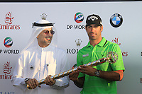 Alvaro Quiros (ESP) winner of the Dubai World Championship on the final day of the DUBAI WORLD CHAMPIONSHIP presented by DP World, Jumeirah Golf Estates, Dubai, United Arab Emirates.Picture Denise Cleary www.golffile.ie