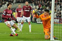 Felipe Anderson Of West Ham United has his shot saved by Neil Etheridge Of Cardiff City FC during West Ham United vs Cardiff City, Premier League Football at The London Stadium on 4th December 2018