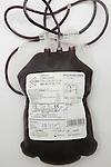 Untyped blood bag. Royalty Free