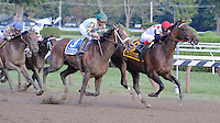 To Honor and Serve (no. 6), ridden by John Velazquez and trained by William Mott, wins the grade 1 Woodward Stakes for three year olds and upward on September 1, 2012 at Saratoga Race Track in Saratoga Springs, New York.  (Bob Mayberger/Eclipse Sportswire)
