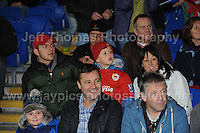 Cardiff City Stadium, Friday 11th Oct 2013. Wales supporters at the Wales v Macedonia FIFA World Cup 2014 Qualifier match at Cardiff City Stadium, Cardiff, Friday 11th Oct 2014. All images are the copyright of Jeff Thomas Photography-07837 386244-www.jaypics.photoshelter.com