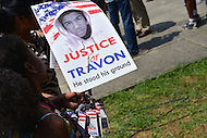 July 20, 2013  (Washington, DC)  Hundreds attend the Justice For Trayvon rally on the steps of the E. Barrett Prettyman federal courthouse in the District of Columbia. The rally was one of 100 that took place in cities across the country July 20, 2013. (Photo by Don Baxter/Media Images International)