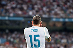 Theo Hernandez of Real Madrid reacts during their Supercopa de Espana Final 2nd Leg match between Real Madrid and FC Barcelona at the Estadio Santiago Bernabeu on 16 August 2017 in Madrid, Spain. Photo by Diego Gonzalez Souto / Power Sport Images