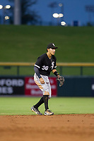 AZL White Sox shortstop Laz Rivera (36) on defense against the AZL Cubs on August 13, 2017 at Sloan Park in Mesa, Arizona. AZL White Sox defeated the AZL Cubs 7-4. (Zachary Lucy/Four Seam Images)