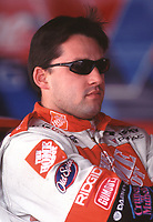 NASCAR driver Tony Stewart in the garage area at Darlington Raceway in Darlington, SC  on Friday, 3/17/00.(Photo by Brian Cleary)