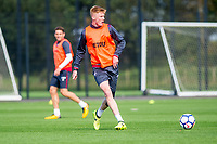 Sam Clucas in action during the Swansea City training session at The Fairwood training Ground, Swansea, Wales, UK. Wednesday 13 September 2017