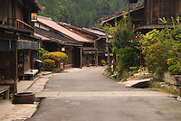 this road--<br /> with no one on it,<br /> autumn dusk<br /> -Matsuo Basho<br /> <br /> Tsumago -- a traditional post station on the Nakasendo Road -- deserted in the early autumn evening.<br /> (title translation David Landis Barnhill)