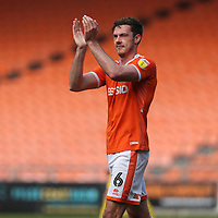 Blackpool's Ben Heneghan applauds the fans at the final whistle <br /> <br /> Photographer Stephen White/CameraSport<br /> <br /> The EFL Sky Bet League One - Blackpool v Fleetwood Town - Monday 22nd April 2019 - Bloomfield Road - Blackpool<br /> <br /> World Copyright © 2019 CameraSport. All rights reserved. 43 Linden Ave. Countesthorpe. Leicester. England. LE8 5PG - Tel: +44 (0) 116 277 4147 - admin@camerasport.com - www.camerasport.com