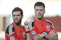 DC United assistant coach Ben Olsen and Kris kelderman.   DC United defeated Chivas USA 3-2 at RFK Stadium, Saturday  May 29, 2010.