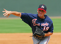 3 September 2007: Photo of the Asheville Tourists, Class A South Atlantic League affiliate of the Colorado Rockies, in a game against the Greenville Drive at West End Field in Greenville, S.C. Photo by:  Tom Priddy/Four Seam Images