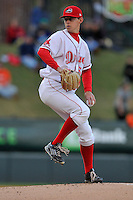 Pitcher Matt Kent (51) of the Greenville Drive delivers a pitch in a game against the Asheville Tourists on Thursday, April 7, 2016, at Fluor Field at the West End in Greenville, South Carolina. Greenville won, 4-3. (Tom Priddy/Four Seam Images)