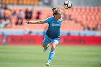 Houston, TX - Saturday May 13, Sky Blue FC defender Christie Pearce (3) during a regular season National Women's Soccer League (NWSL) match between the Houston Dash and Sky Blue FC at BBVA Compass Stadium. Sky Blue won the game 3-1.