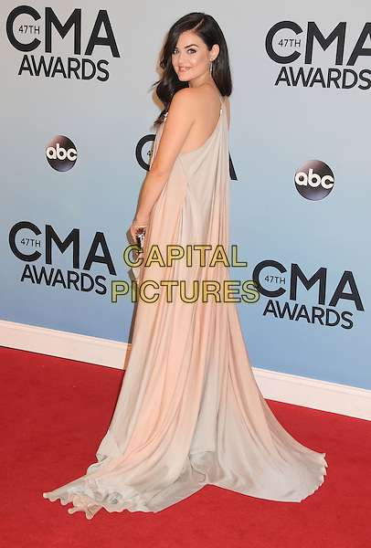 NASHVILLE, TENNESSEE - NOVEMBER 06: Lucy Hale at the 47th CMA Awards, Country Music's Biggest Night, held at Bridgestone Arena on November 6th, 2013 in Nashville, Tennessee, USA.<br /> CAP/ADM/BP<br /> &copy;Byron Purvis/AdMedia/Capital Pictures