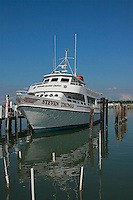 Steven Thomas is one of the passenger boat that services the Tangier Island daily .