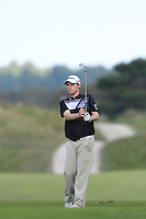Kevin Phelan (IRL) on the 9th during Round 2 of the KLM Open at Kennemer Golf &amp; Country Club on Friday 12th September 2014.<br /> Picture:  Thos Caffrey / www.golffile