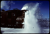 Partial front side-view of rotary #OY plowing snow.<br /> C&amp;TS  Chama, NM  prior to 2/1978