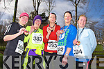 Joanne Allman, Sinead Kelliher, Nora Kelliher, Mary Falvey and Mary Maybury at the Valentines 10 mile road race in Tralee on Saturday.