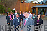 Patrick Dillon, general manager and Paul O'Shea, financial controller, pictured with Rangna O'Donovan, Julieanne Lyons, Michael O'Reilly, Anna Kerins, Andela Hayden, Denis Cronin, Breda Kelliher and Eileen Cooper, who will form the new management team at the Quality Hotel in Killarney.....