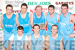 The Trainspotters, Castleisland who won the Mens Division 3 final Final at the 2008 St Mary's Christmas blitz in Castleisland Community Centre on Tuesday front row l-r: Ivan Stuart, Cormac Lyons, Kevin Lynch. Back row: Dan Shanahan, Peter Burke, John Keane, Trevor and Mick O'Donoghue