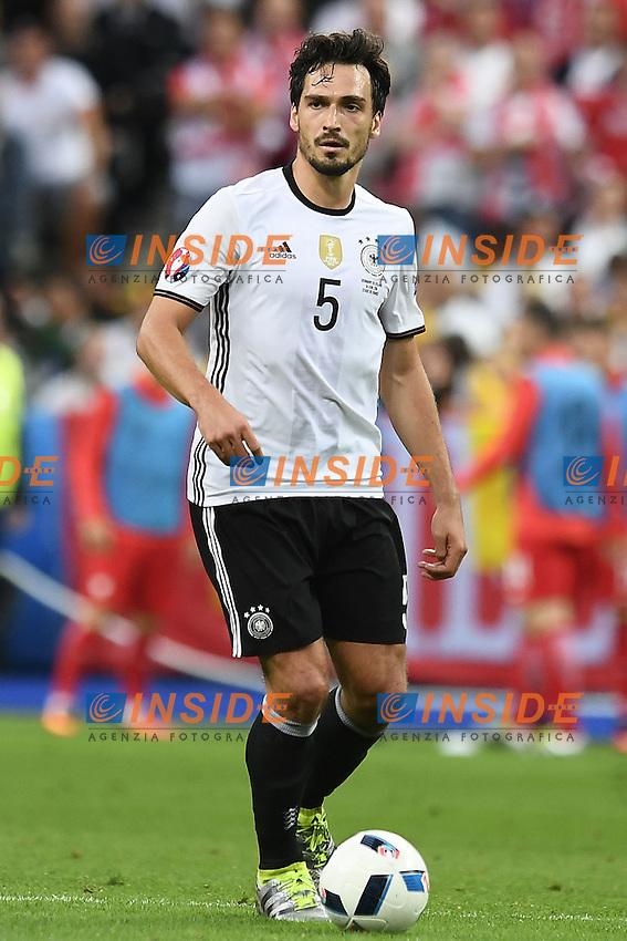 Mats Hummels <br /> Paris 16-06-2016 Stade de France Football Euro2016 Germany - Poland / Germania - Polonia Group Stage Group C. Foto Matteo Gribaudi / Insidefoto / Insidefoto