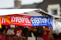 17th November 2019; Anfield, Liverpool, Merseyside, England; Womens Super League Football, Liverpool Women versus Everton; Merchandise on sale outside Anfield before the game - Editorial Use