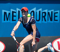 ALIZE CORNET (FRA)<br /> <br /> Tennis - Australian Open - Grand Slam -  Melbourne Park -  2014 -  Melbourne - Australia  - 16th January 2013. <br /> <br /> &copy; AMN IMAGES, 1A.12B Victoria Road, Bellevue Hill, NSW 2023, Australia<br /> Tel - +61 433 754 488<br /> <br /> mike@tennisphotonet.com<br /> www.amnimages.com<br /> <br /> International Tennis Photo Agency - AMN Images