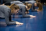 GRAND RAPIDS, MI - NOVEMBER 18: Members of Wittenberg University's volleyball team stretch before the Division III Women's Volleyball Championship held at Van Noord Arena on November 18, 2017 in Grand Rapids, Michigan. Claremont-M-S defeated Wittenberg 3-0 to win the National Championship. (Photo by Doug Stroud/NCAA Photos via Getty Images)