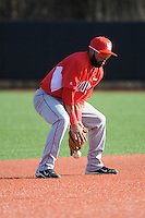 University of Houston Cougars infielder Frankie Ratcliff (7) during game game 2 of a double header against the Rutgers Scarlet Knights at Bainton Field on April 5, 2014 in Piscataway, New Jersey. Houston defeated Rutgers 9-1.      <br />  (Tomasso DeRosa/ Four Seam Images)