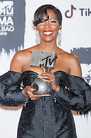 BILBAO, SPAIN-November 04: Tiwa Savage in the press room during the EMA 2018 at BEC (Bilbao Exhibition Center) in Bilbao, Spain on the 4 of November of 2018 November04, 2018.  ***NO SPAIN***<br /> CAP/MPI/RJO<br /> &copy;RJO/MPI/Capital Pictures