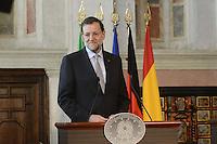 Roma, 22 Giugno 2012.Villa Madama.Vertice quadrilaterale su Eurozona con i leader di Italia, Francia, Germania e Spagna.Mariano Rajoy.