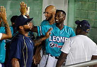 SANTA MARTA - COLOMBIA, 26-11-2019: Ramon Marcelino de Leones celebra homerun durante partido entre Leones de Santa Marta y Toros de Sincelejo como parte de La Liga Profesional de Béisbol Colombiano 2019/2020 jugado en el estadio La Esperanza de Santa Marta. / Ramon Marcelino of Leones celebrates a homerun during match between Leones de Santa Marta and Toros de Sincelejo as part of Colombian Professional Baseball League 2019/2020 played at La Esperanza stadium in Santa Marta city. Photo: VizzorImage / Gustavo Pacheco / Contribuidor.