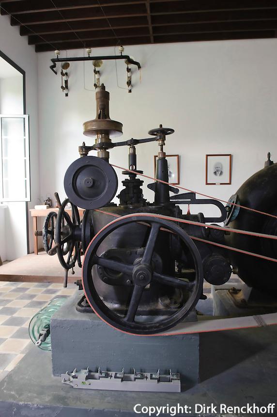 Wasserkraftwerk Central Hidroelectrica von 1911 bei Vila Franca do Campo auf der Insel Sao Miguel, Azoren, Portugal