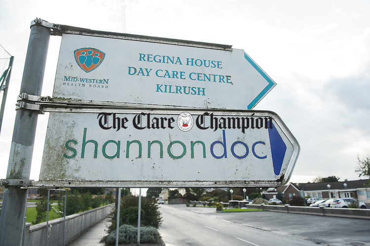 A general view of Regina House signage  in Kilrush. Photograph by John Kelly.
