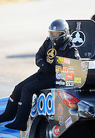 Sept. 5, 2010; Clermont, IN, USA; NHRA funny car driver Jim Head during qualifying for the U.S. Nationals at O'Reilly Raceway Park at Indianapolis. Mandatory Credit: Mark J. Rebilas-
