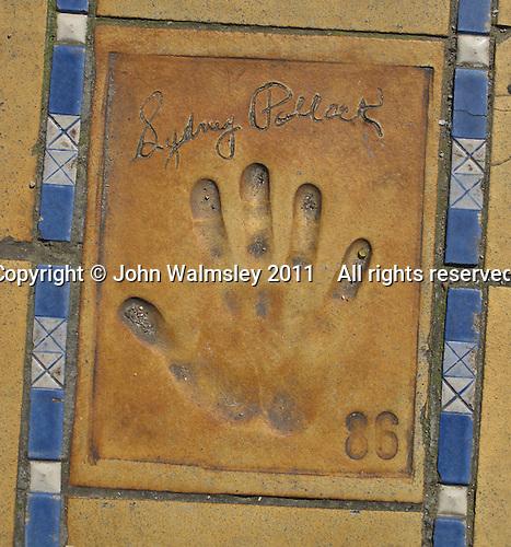 Hand print of the film director, Sydney Pollack, outside the Palais des Festivals et des Congres, Cannes, France.