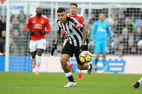 Kenedy of Newcastle United during Newcastle United vs Manchester United, Premier League Football at St. James' Park on 11th February 2018