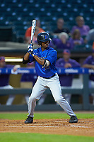 Kennie Taylor (15) of the Duke Blue Devils at bat against the Clemson Tigers in Game Three of the 2017 ACC Baseball Championship at Louisville Slugger Field on May 23, 2017 in Louisville, Kentucky. The Blue Devils defeated the Tigers 6-3. (Brian Westerholt/Four Seam Images)