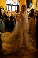 Steven Khalil held his show in the Hotel le Marois in Paris. Glitter and beading, sentiments of russian dolls-the word to describe this collection would be 'light'- Paris Haute Couture<br /> <br /> Paris Fashion week Haute Couture 2019<br /> Paris, France on July 01, 2019.<br /> CAP/GOL<br /> ©GOL/Capital Pictures