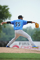 Akron RubberDucks pitcher Giovanni Soto (35) during game against the Trenton Thunder at ARM & HAMMER Park on July 14, 2014 in Trenton, NJ.  Akron defeated Trenton 5-2.  (Tomasso DeRosa/Four Seam Images)