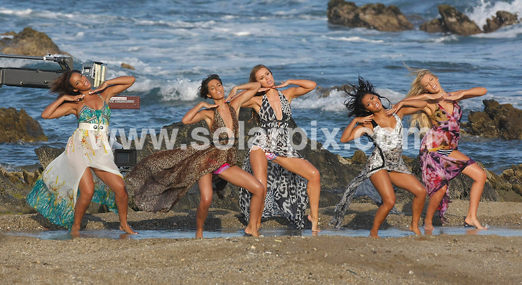 "**ALL-ROUND  PICTURES FROM SOLARPIX.COM**.**WORLDWIDE RIGHTS**.Pictures show girl group ""The Saturdays"" shooting the video for their new single in Malaga on the Costa del Sol, Spain. .This pic:  The Saturdays shooting new music video in Malaga, Spain..L-R:    Rochelle Wiseman, Frankie Sandford, Una Healy, Vanessa White & Mollie King.JOB REF:  11328   AB1       DATE:   27.05.10.**MUST CREDIT SOLARPIX.COM OR DOUBLE FEE WILL BE CHARGED**.**MUST AGREE FEE BEFORE ONLINE USAGE**.**CALL US ON: +34 952 811 768 or LOW RATE FROM UK 0844 617 7637**"