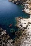 Crete, Greece, Kayaking Crete's rocky southwest coast, Europe, Mediterranean Sea, Sarah Shannon, released,.
