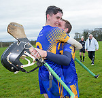 Newmarket players Colin Guilfoyle and Colin Ryan celebrate their win over Sixmilebridge in the Clare Champion Cup final at Clonlara. Photograph by John Kelly.