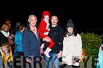 Marisa Ready & Hanna O' Connell from Abbeydorney pictured with Kieran Donaghy & Tony Noonan.
