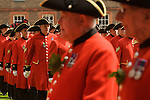 The Royal Hospital. Chelsea Penioners at the Founders Day annual parade London SW3  England. 2006.