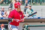 20 March 2015: Washington Nationals first baseman Mike Carp in Spring Training action against the Houston Astros at Osceola County Stadium in Kissimmee, Florida. The Nationals defeated the Astros 7-5 in Grapefruit League play. Mandatory Credit: Ed Wolfstein Photo *** RAW (NEF) Image File Available ***