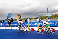 Photo: Richard Lane/Richard Lane Photography. GE Strathclyde Park Triathlon. 22/05/2011. Elite Men race cycling.