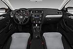 Stock photo of straight dashboard view of 2017 Volkswagen Jetta S 4 Door Sedan Dashboard